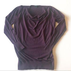 ann taylor * draped sweater